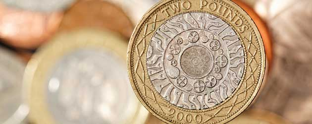 Two pound coin.