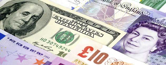Pound Sterling, US Dollar and Euros